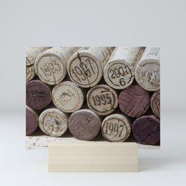 Vintage Wine Corks Mini Art Print