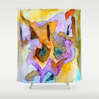 dick Shower Curtains featuring clever dick by Kay Weber