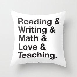 Love Teaching Throw Pillow
