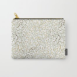 Berry Branches – Sage & Gold Carry-All Pouch