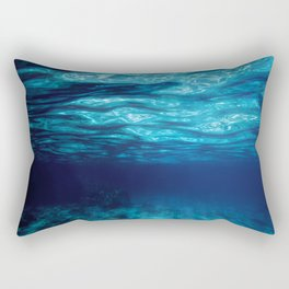 Blue Underwater Rectangular Pillow