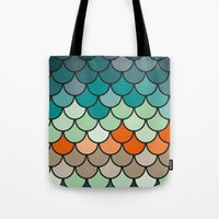 scales Tote Bags featuring Scales by Pattern Design