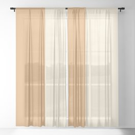 Color Block Abstract XXII Sheer Curtain