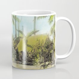 Little Grass Shacks Beneath Pam Trees in Hawaii Coffee Mug