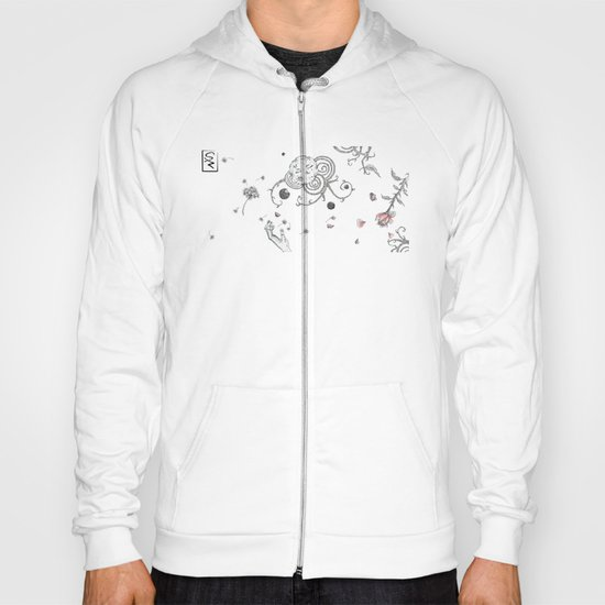 with Eyes closed Hoody