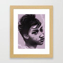 Aretha Purple Soul Framed Art Print