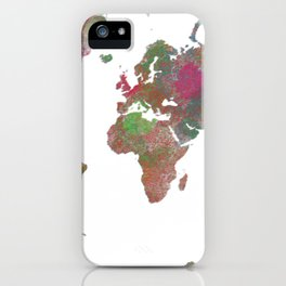 World Map - Watercolor 4 iPhone Case