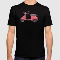 Vespa - ballpoint pen MEDIUM Black Mens Fitted Tee