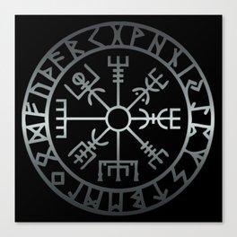 Vegvísir (Icelandic 'sign post') Symbol - REEL STEEL Canvas Print
