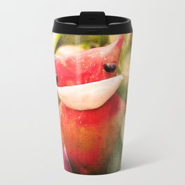 Red kitty in the Jungle Travel Mug