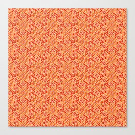 Burnt Orange Jazz Busy Red Clay Hexagon Country Southwestern Design Pattern Canvas Print
