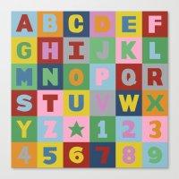 alphabet Canvas Prints featuring Alphabet by Project M