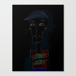 Extremely Grumpy Canvas Print