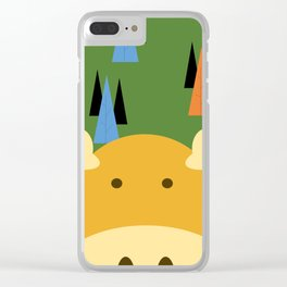 Dark Green Moose Clear iPhone Case