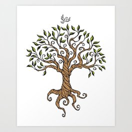 Shirley's Tree Colored Art Print