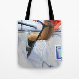 Downhill Run - Stunt Scooter Rider Tote Bag