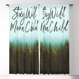 Stay Wild Moon Child Blackout Curtain