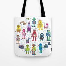 Robots in Space Tote Bag