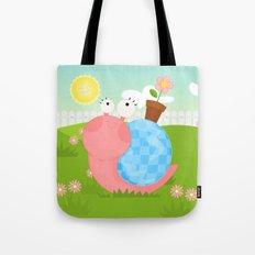 Pink Snail (female) Tote Bag