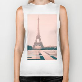 Eiffel tower in the early morning Biker Tank