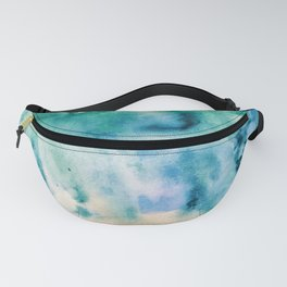 Watercolor abstract many color no.16 Fanny Pack