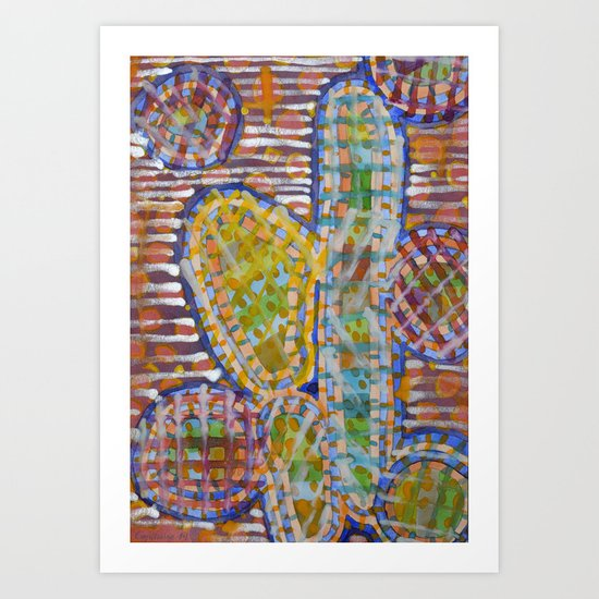 Cacti-like Art Print