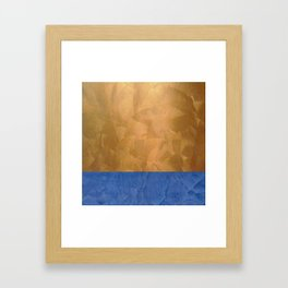 Copper Metallic With Tuscan Blue Stripe Trim Framed Art Print