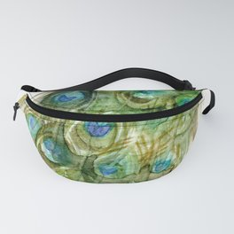 Green Peacock Fanny Pack