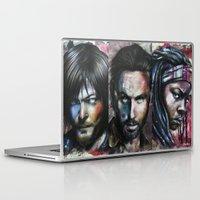 daryl dixon Laptop & iPad Skins featuring Daryl Dixon by Jhaiku