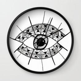 Eyes Wide Open Wall Clock