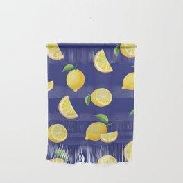 Lemons on Navy Wall Hanging