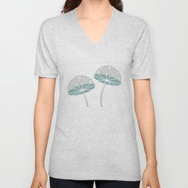 Romantic mushrooms Unisex V-Neck