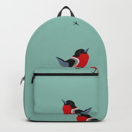Red Bird Pattern Backpack