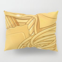 the real italian Pasta food background Pillow Sham