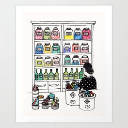The Candy Shop Art Print