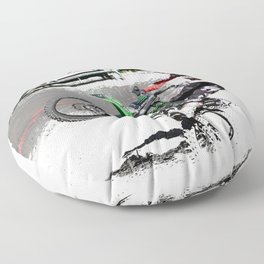 Making a Stand - Freestyle Motocross Rider Floor Pillow