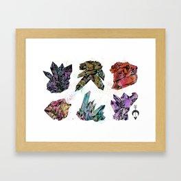 6 Crystals Framed Art Print