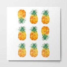 Adroable Geomteric Pineapple Pattern Metal Print