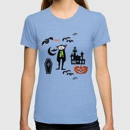 Cute Dracula and friends purple #halloween T-shirt
