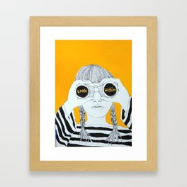 LOOK WITHIN Framed Art Print