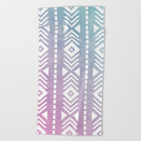 Aztec Pattern 12 Beach Towel