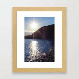 Dallas Road Beach Framed Art Print