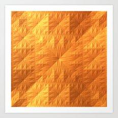 Golden Quilt Art Print