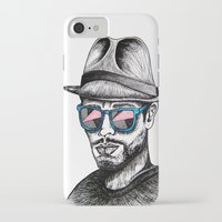 rave iPhone & iPod Cases featuring Reflective Rave by Samantha J Creedon