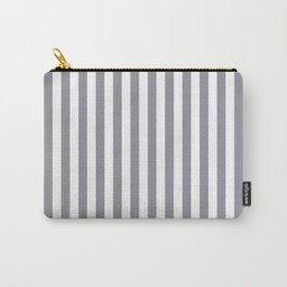 Pantone Lilac Gray & White Stripes, Wide Vertical Line Pattern Carry-All Pouch