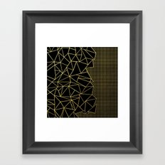 Abstract Outline Grid Gold Framed Art Print