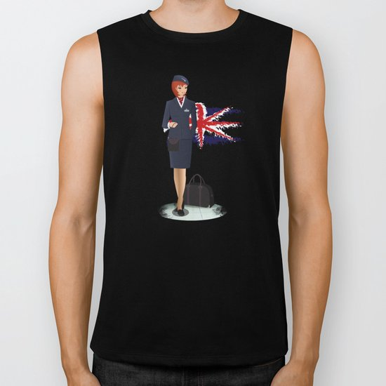 Come fly with me, let's fly, let's fly away - England Biker Tank