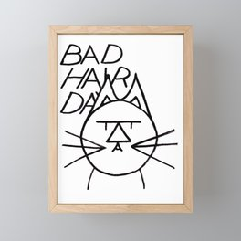 FeltTipCat - Bad Hair Cat  Framed Mini Art Print