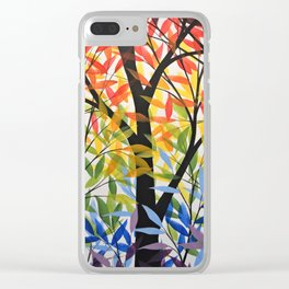 Abstract Art Original Landscape Painting ... Spectrum of Trees Clear iPhone Case