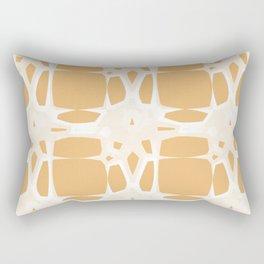 Mid Century 1960s Modern Retro Stars Beige Yellow Rectangular Pillow
